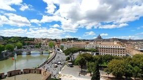 ?? E 2019年5月21日 从上面看梵蒂冈 梵蒂冈的全景从圣天使城堡的  影视素材