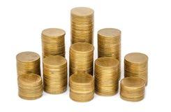 E 挽救,硬币堆增长的事务 投资金钱概念 库存照片