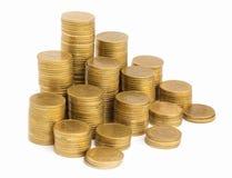 E 挽救,硬币堆增长的事务 投资金钱概念 库存图片