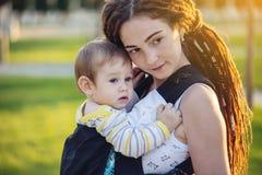 E 母性喜悦的概念  库存照片