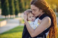 E 母性喜悦的概念  图库摄影