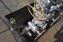 E 油井泉源设备 石油生产 维尔斯在库班河州农业大学 碳氢化合物的提取 免版税库存照片