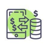 E 流动网站或流动应用程序的付款传染媒介完善的映象点象 库存例证