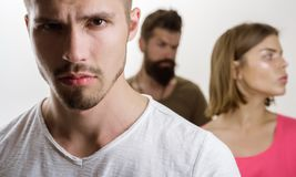 E 消沉和自杀的倾向家庭心理学家疗法 有夫妇的人 爱联系  免版税图库摄影