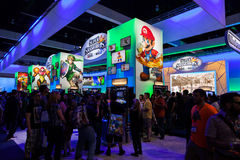 E3的任天堂的摊2014年 库存图片