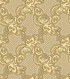 E 经典豪华巴洛克式的装饰品,皇家维多利亚女王时代的无缝的样式 向量例证