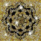 E 装饰要素葡萄酒 东方样式, 回教,阿拉伯语,印地安人,摩洛哥人,西班牙,土耳其语, 向量例证