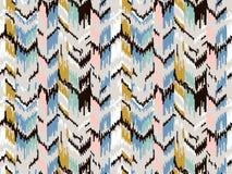 E 部族种族传染媒介纹理 在阿兹台克样式的条纹图形 Ikat几何民间传说装饰品 库存图片