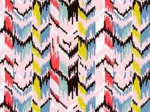 E 部族种族传染媒介纹理 在阿兹台克样式的条纹图形 Ikat几何民间传说装饰品 库存照片