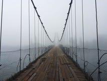 E 阿尔泰村庄桥梁 E 免版税库存图片