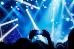 E 音乐会表现 免版税库存图片