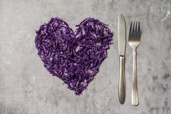 E 食物健康素食主义者 顶视图 免版税库存图片