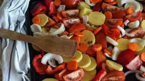 E 食物健康素食主义者 顶视图 库存图片