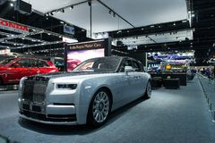 NONTHABURI, THAILAND - DECEMBER 6,2018 : View of Rolls-Royce Phantom VIII car on display at Thailand International Motor Expo 2018