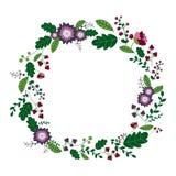 Флористическая иллюстрация рамки иллюстрация штока