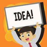 写笔记陈列想法 陈列创造性的创新想法的想象力设计计划的解答的企业照片 皇族释放例证