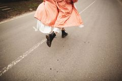 E Τρέξιμο γυναικών στοκ εικόνες με δικαίωμα ελεύθερης χρήσης