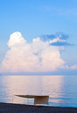 να λάμψει θάλασσας επιφάν&e Στοκ εικόνες με δικαίωμα ελεύθερης χρήσης