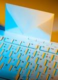 计算机e信包关键董事会邮件 免版税库存图片