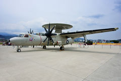 E-2T airborne early warning aircraft. Taiwan's Air Force e-2t in Taipei Royalty Free Stock Images