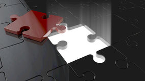 Puzzle scavato Fotografie Stock