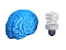 Cervello economizzatore d'energia Fotografia Stock Libera da Diritti