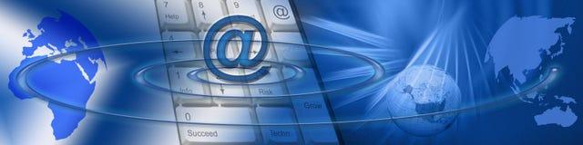 商务e技术宽世界 免版税库存照片