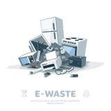 E-Abfall Stapel lizenzfreie abbildung
