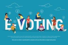 E-Abstimmungskonzeptillustration Lizenzfreie Stockfotografie