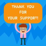 E Affärsidéen för gillande är tacksam för hjälp givet mananseende stock illustrationer