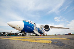 AN-148-100E in airport Domodedovo Royalty Free Stock Images