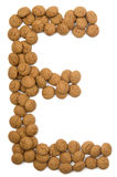 e alfabet imbiru nuts Fotografia Stock