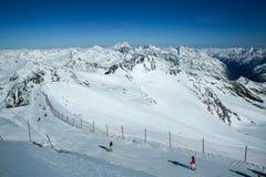 E alpen Österreich Pitztaler Gletscher stockbild