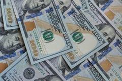 E Amerikaans Dollarsgeld De Rekening van honderd Dollars Textuur van honderd Amerikaanse dollars bankbiljetten