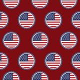 E Amerikanska flaggan i stämpel vektor illustrationer