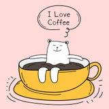 E Amo il caffè Immagini Stock