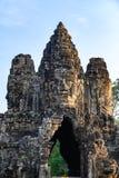 E Angkor Thom ?tait le bout et la plupart de capitale durable de l'empire de Khmer photographie stock