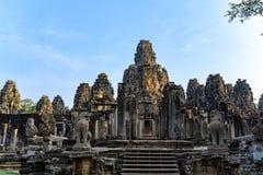 E Angkor Thom ?tait le bout et la plupart de capitale durable de l'empire de Khmer image stock