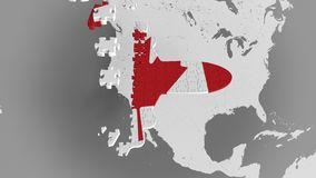 E Animación conceptual 3D del turismo canadiense stock de ilustración