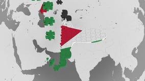 E Animación conceptual 3D del turismo jordano libre illustration