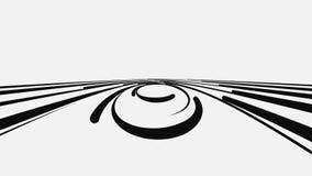 E animation Abstra??o preto e branco ilustração stock