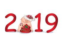 E Ano novo chinês O ano do porco fotografia de stock royalty free