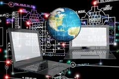 E-anslutning teknikteknologi Arkivbilder