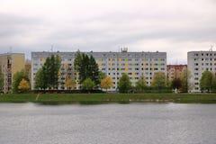 E Architektursonderkommando und Muster des sozialen Wohn von den Wohnungen in Jablonec, Tschechische Republik stockbild
