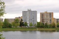 E Architektursonderkommando und Muster des sozialen Wohn von den Wohnungen in Jablonec, Tschechische Republik lizenzfreie stockfotografie