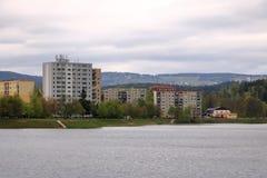 E Architektursonderkommando und Muster des sozialen Wohn von den Wohnungen in Jablonec, Tschechische Republik lizenzfreies stockbild