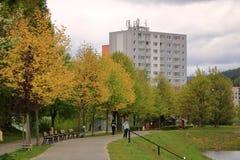 E Architektursonderkommando und Muster des sozialen Wohn von den Wohnungen in Jablonec, Tschechische Republik lizenzfreie stockbilder