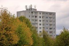 E Architektursonderkommando und Muster des sozialen Wohn von den Wohnungen in Jablonec, Tschechische Republik stockfotos