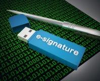 E-assinatura Foto de Stock