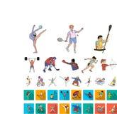 E Atleta, rywalizacja symbolu zapasu wektorowa sieć ilustracji